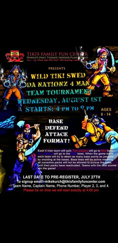 Wild Tiki Fun Zone Laser Tag Tournament