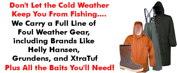 Bay fishing season is almost over ocean season is here for Foul weather fishing gear